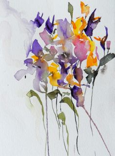 """""""Violets and Buttercups"""", 2013. © Karin Johannesson (http://www.karinjohannesson.com/). #Violet #Violets #Buttercup #Buttercups"""