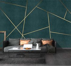 Bacaz Custom Concrete Geometric Wallpaper Wall Sticker for Living Room Background Geometric Wall Decor Print Wall Mural Geometric Wallpaper 3d, Geometric Wall Paint, 3d Wallpaper For Walls, Geometric Decor, Unique Wallpaper, Wallpaper Ideas, Bedroom Wall Designs, Room Wall Painting, 3d Wall Murals