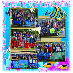 """Photos of each float from this year's 2014 Homecoming parade in Tekamah. With a theme of """"Under the Sea"""" each class created a float in honor of that theme. The Homecoming candidates rode on top of one of Tekamah's fire trucks, a long standing tradition. *Photos by Allison Jones/BCPlaindealer"""