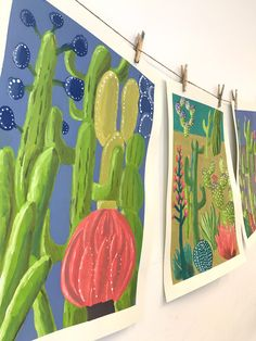 This colorful middle school cacti painting project inspired by the muted desert colors of the Southwest will blow your socks off. Middle School Art Projects, Art School, 7th Grade Art, Art Education Projects, School Painting, Cactus Painting, Art Curriculum, Art Lessons Elementary, High Art