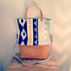 Tote by Finch Sewing Studio with Arizona fabrics by April Rhodes <3
