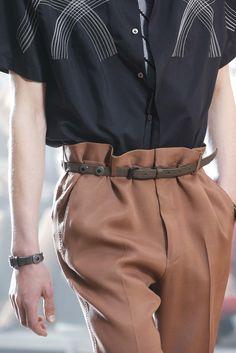 Lanvin Spring 2016 Menswear - paperbag waist