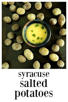 A little salt makes everything better, and in this case, a lot of salt akes Syracuse Salted Potatoes fantastic! Salty outside, creamy inside! Potato Recipes, Veggie Recipes, Dinner Recipes, Cooking Recipes, Pioneer Woman Mashed Potatoes, Salted Potatoes, Main Dishes, Side Dishes