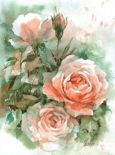 As Rosas - Pintura de Inna - Bielorrússia