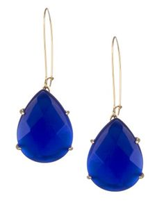 Beautiful statement tear drop earrings in a ridiculously bright cobalt blue.  Love love love.  #kendrascott