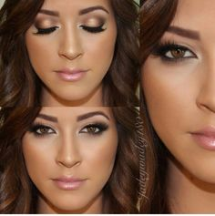 very well balanced. Love the soft contouring and eyeliner, especially on outter corners. #weddingmakeup