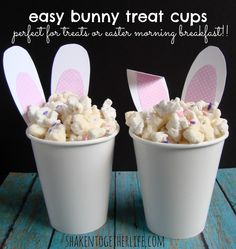 shaken together: {create this} easy bunny treat cups