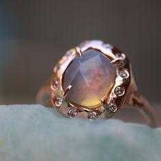 Luminous opal ring Jewelry Box, Jewelery, Yes Band, Arrow Ring, Opal Rings, Blue Topaz, Mystic, Rose Gold, Gemstones