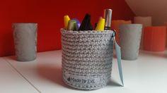 Häkelkörbchen fürs Bad L hellgrau Bad 9 cm von Made By EvE - Wohndeko selbst gehäkelt auf DaWanda.com