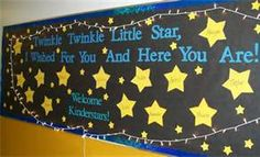 Twinkle Twinkle, Little Star, I wished for you and here you are!  Back to School Bulletin Board  #BacktoSchool #Teacher Pinned by www.FernSmithsClassroomIdeas.com