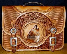 Skyhorse Hand Tooled Briefcase