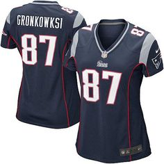 d20b828ff Women s Blue NIKE Elite New England Patriots  87 Rob Gronkowski Team Color  NFL Jersey  109.99