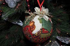 Adornos navideños - DIY Christmas ornaments - Bolas de patchwork sin aguja - No sew quilted balls