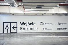 Sinalização Silesian Museum (parte interna)