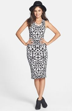 Lush Print Body-Con Midi Dress (Juniors) available at #Nordstrom