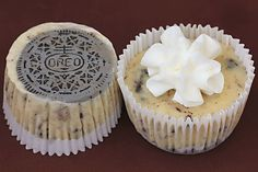 oreo cookies & cream cheesecakes...omg, I gained 5 lbs just looking at these!