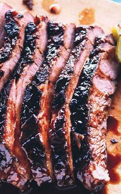 Braised brisket with peach bourbon glaze is, hands-down, the best thing to do…