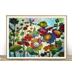 Printable Wall Art Colorful Flowers Printable Flowers