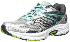 Saucony Womens Grid Cohesion 9 running Shoe GreyBlue 95 M US -- Visit the image link more details.