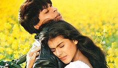 Classic Bollywood Moments... Kajol and Shah Rukh Khan in DDLJ