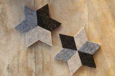 DIY Geometric Felt Coasters Project                                                                                                                                                                                 More