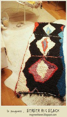 gehäkelter läufer in Berber-Optik handmade and unique by christina für moonshine & wool