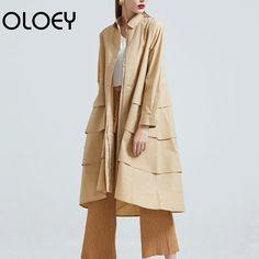 Encontrar Más Vestidos Información acerca de OLOEY nuevo Otoño Invierno  2018 moda solapa manga larga cremallera 2e0d71e0eb42
