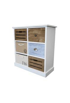 Comoda cu 6 sertare Eliza Lemn 72x70x30 cm Best Sellers, Lockers, Locker Storage, Dresser, Cabinet, Furniture, Vintage, Home Decor, Clothes Stand