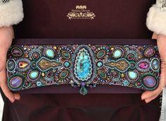 Beadwork handbag-clutch 'Grand Opera' | Natalia Uhryn
