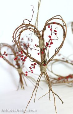 Twig Heart Tutorial _ oh with all these cute DIY ideas im gonna need a whole work shop running for me when its my turn to prepare a wedding <3