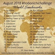 This month let's travel the world virtually and write, sketch, or think about world landmarks in the You… 30 Day Art Challenge, Journal Challenge, Drawing Challenge, Journal Ideas, Art Prompts, Writing Prompts, Comics Sketch, Rialto Bridge, Drawing Prompt