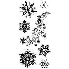 Inkadinkado Snowflakes A-Plenty Stamps Clear Stamp Set Christmas Stamps Christmas Card Stamps Snowfl Mini Tattoos, Body Art Tattoos, Tattoo Drawings, Sleeve Tattoos, Tatoos, Snow Tattoo, Snow Flake Tattoo, Schnee Tattoo, Snowflake Wedding