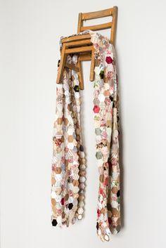 Narrative Threads | Ruth Singer Hand Outline, Textiles Techniques, Artist Profile, Female Photographers, Textile Artists, Design Crafts, Floral Tie, Ladder Decor, Quilts