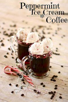 Peppermint Ice Cream Coffee   AMAZING!!!  via..thehungryhousewife.com