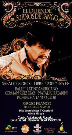 """Rosario: Rodolfo Ruíz Diaz """"El Duende"""" cumple 50 años con el tango"""