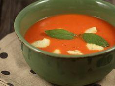 Supa rece de rosii 1.5 kg rosii coapte, 1 ceapa r...