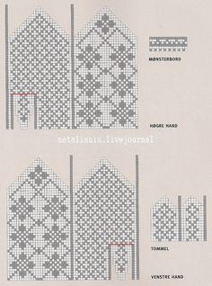 Фото, автор POLINKA-UKRAINKA на Яндекс.Фотках Knitted Mittens Pattern, Knit Mittens, Knitted Gloves, Knitting Socks, Knitting Charts, Knitting Stitches, Knitting Patterns, Tapestry Crochet Patterns, Drops Patterns