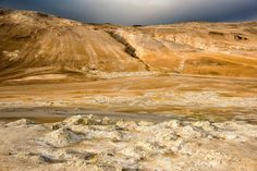 the area of hveraroend in the north of Iceland Amazing Nature, Geology, Iceland, Grand Canyon, Landscape, Water, Places, Painting, Outdoor