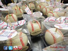 Baseball Apples by Pretzels Pleaze! Perfect for a baseball BIRTHDAY party !