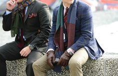 Scarves, colour, plaid, patterns