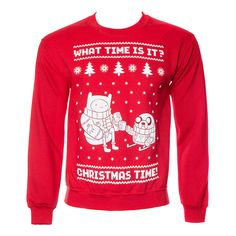Adventure Time Christmas Time Jumper (Red)