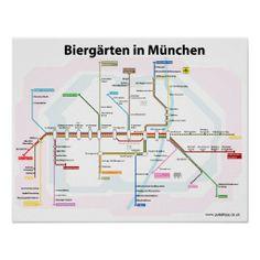 Biergaerten: München-Plakat
