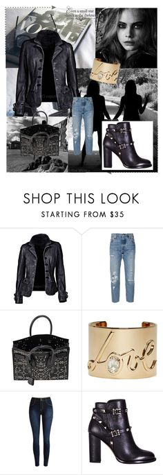 """""""jacket"""" by fluturash4 on Polyvore featuring Levi's, Yves Saint Laurent, Lanvin and Valentino"""