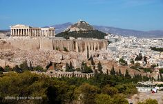 The Acropolis with Mount Lycabettus hill in background.... Athens, Greece! July 2012, here we come!