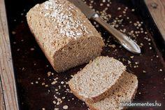 Mindenmentes zabos cipó (gluténmentes, rizsmentes, olajmentes, vegán) - Nóri mindenmentes konyhája Minden, Vegan, Bread, Food, Brot, Essen, Baking, Meals, Breads