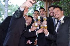 Fotografia de casamento em Belo Horizonte - Padrinhos do noivo