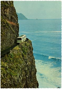 Madeira island in the - anybody want to pass the bus? Cristiana Couceiro, Portugal, Dangerous Roads, Famous Photos, Tour Operator, Beautiful World, Places To See, Seaside, The Good Place