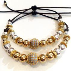 Bracelets By Vila Veloni Elegant Gold and Silver Bullets