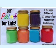 DIY kids paints