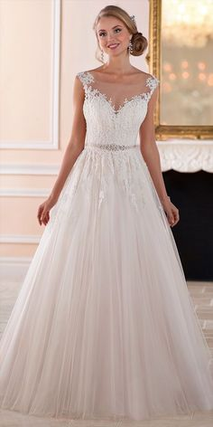 721f482be2 This romantic ball gown with keyhole back wedding dress by Stella York was  made for fairytale